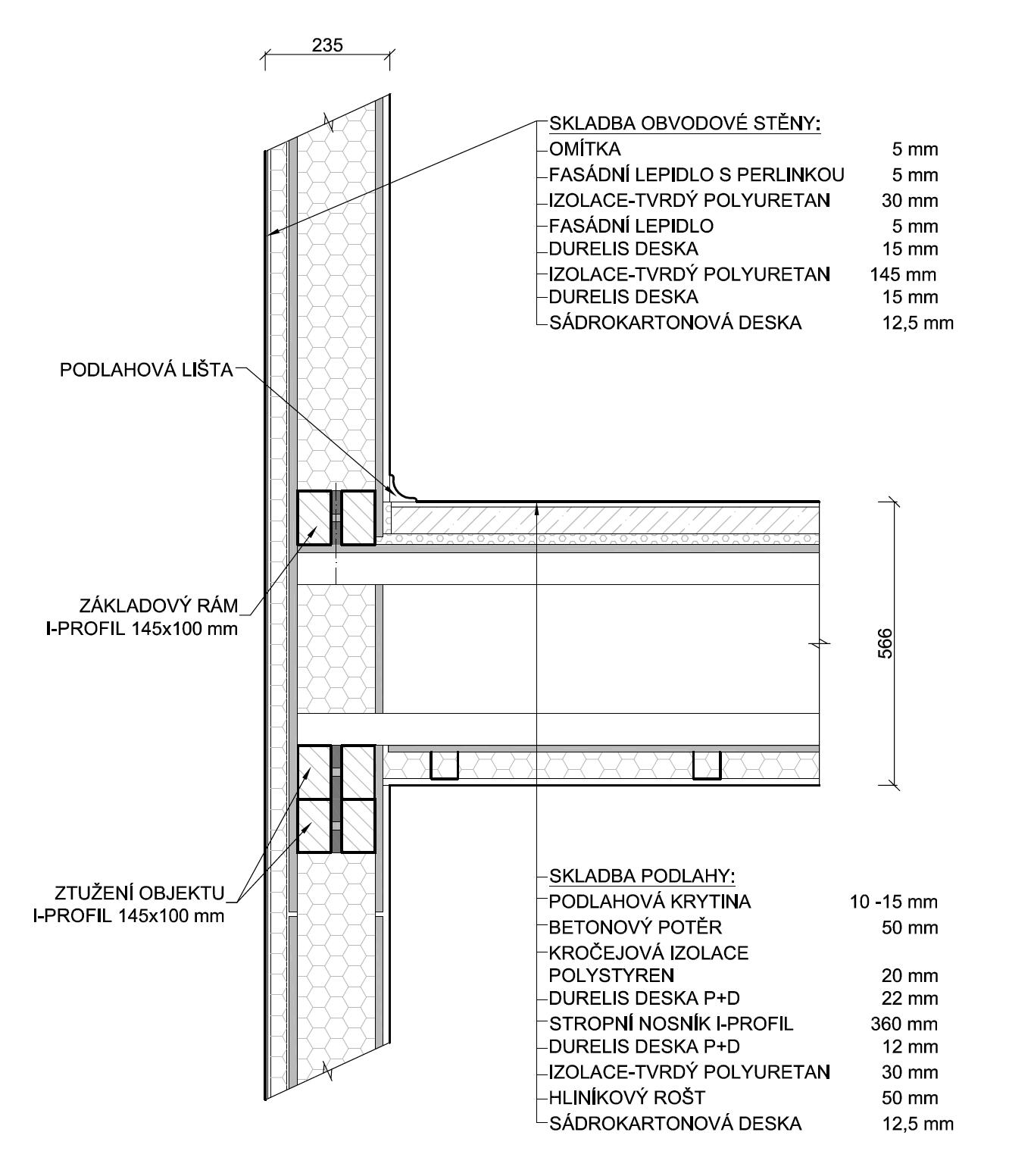 Nosné prvky stropu - nákres | Homing.cz