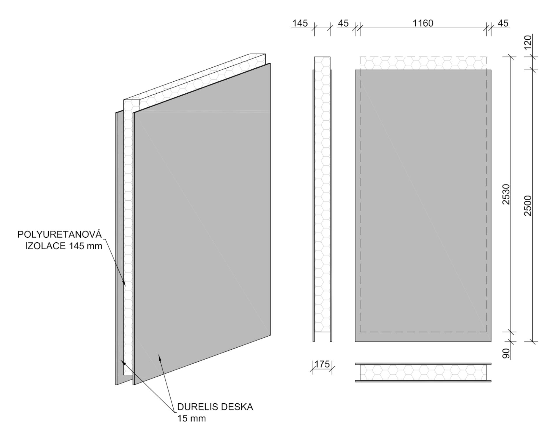 Obvodový nosný panel - nákres | Homing.cz