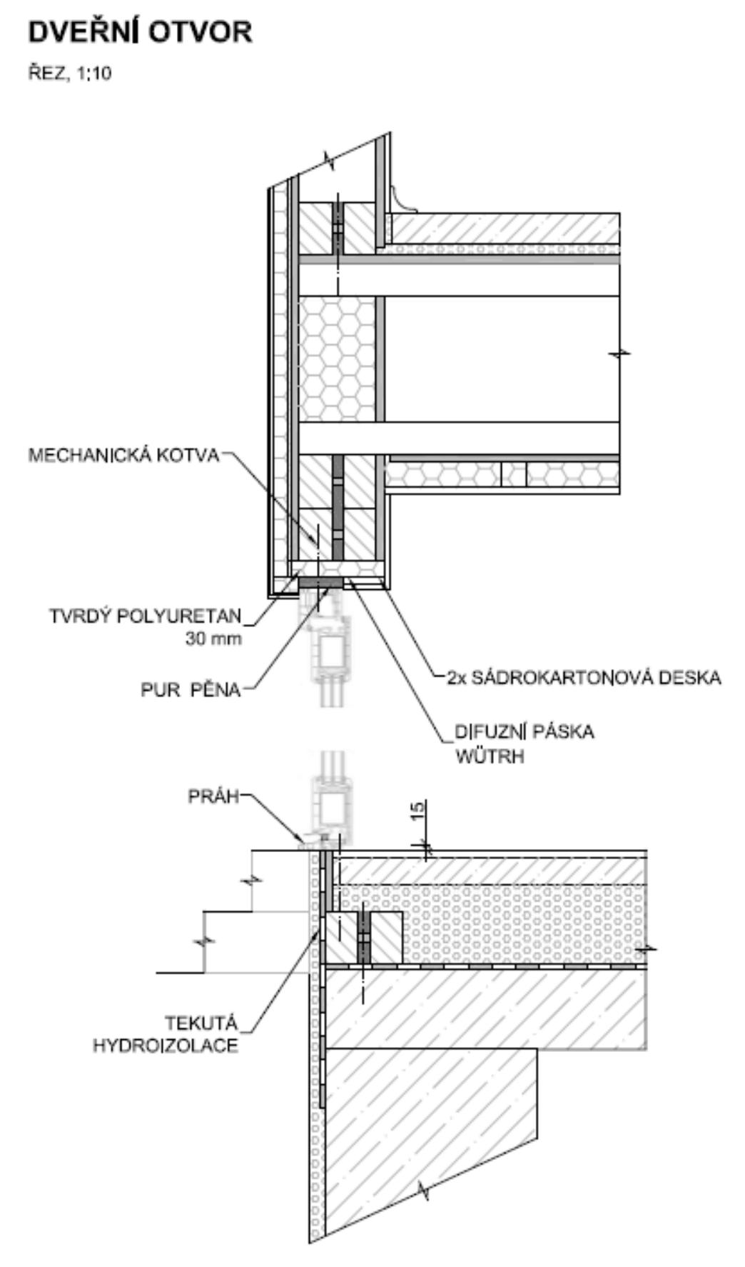 Dveřní otvor - nákres   Homing.cz